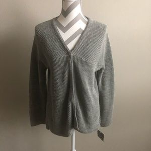 Gray Willow Sweater Cardigan M NWT